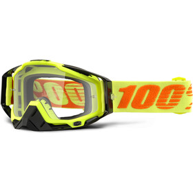100% Racecraft Anti Fog Clear Goggles, attack yellow